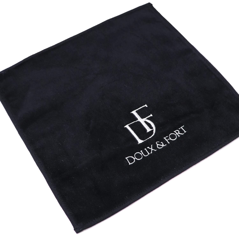 【17895】オリジナル刺繍 A位置<br>ORシリーズ<br>ミニタオル 02:ブラック