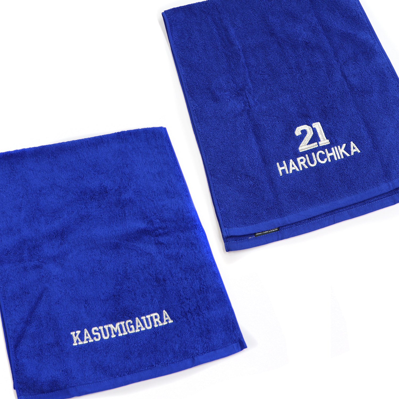 【18334】チーム刺繍/AIシリーズ フェイスタオル/ロイヤルブルー/2箇所刺繍