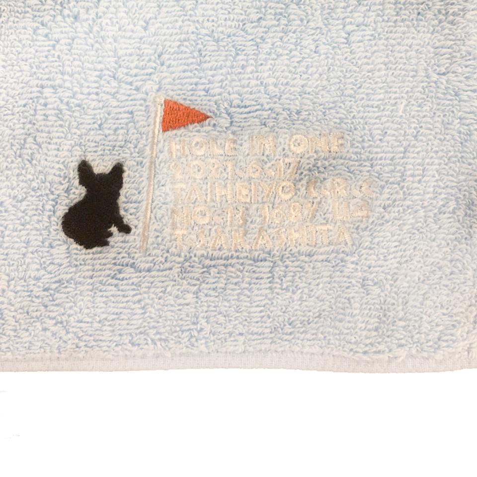 【18713】オリジナル刺繍/和シリーズ :05:シラアイ/ミニタオル/B位置
